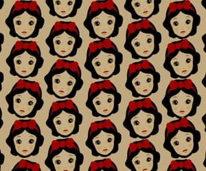 patron, pattern, and snow white image