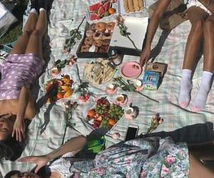 girls, picnic, and grunge image