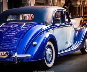 blue, cars, and vintage image