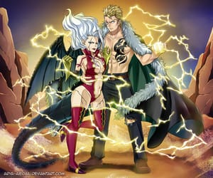 anime, fairy tail, and mirajane image