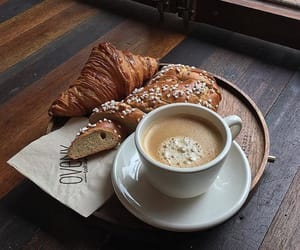 bread, breakfast, and croissant image