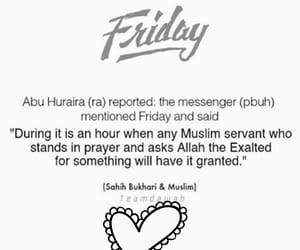 allah, friday, and islamic image