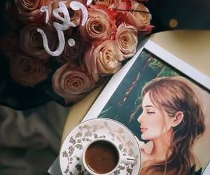 قهوة and ورد وحب image