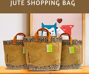 burlap bag, shopping bags, and jute tote bag image