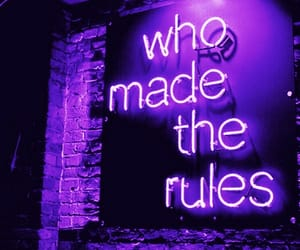 neon, light, and rules image