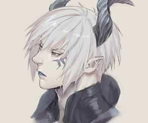 anime, boy, and demon image