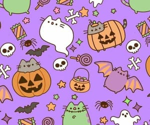 autumn, wallpaper, and pusheen cat image