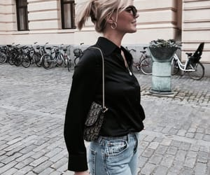 blonde, purse, and chic image