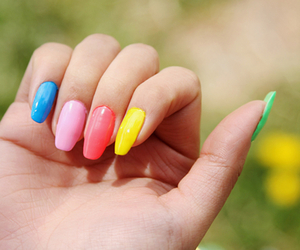 nails, pink, and colorful image