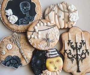 black, Cookies, and food image