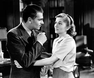 joan fontaine, laurence olivier, and rebecca image
