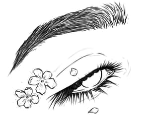 outline and eye image