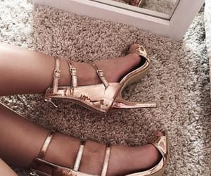 aesthetic, gold, and stilettos image