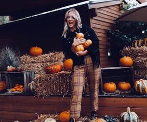 autumn, fall, and pumpkins image