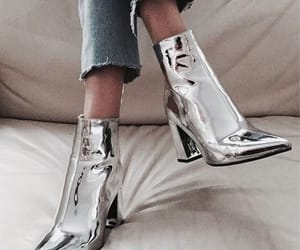 aesthetic, silver, and boots image