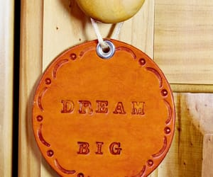 motivational gift and leather door hanger image