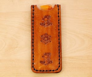 gift for dad, leather comb case, and nautical comb case image