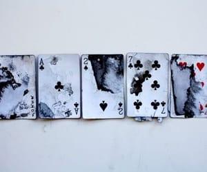 cards, grunge, and black image