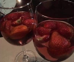 strawberry, red, and drink image