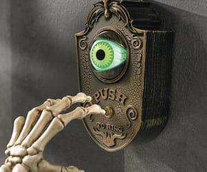 decor, Halloween, and doorbell image