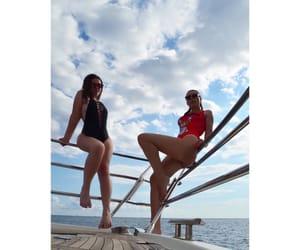 boat, girls, and luxury image
