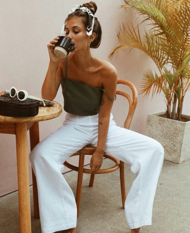 fashion, coffee, and summer image