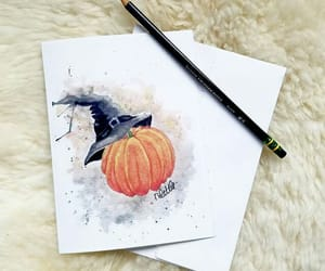 art, Halloween, and watercolors image