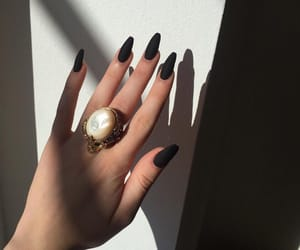 nails, black, and accessories image