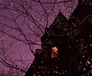 light, night, and house image