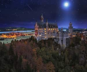 castle, beautiful, and night image