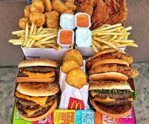 food, burger, and fast food image