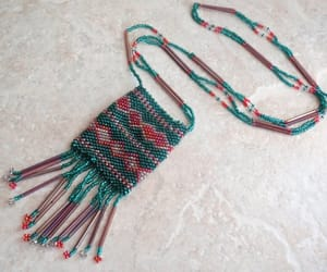 beaded necklace, vintage jewelry, and christmas holiday image