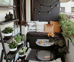 balcony, poof, and sofa image