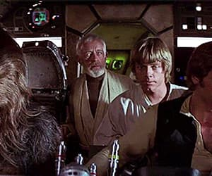 gif, han solo, and chewbacca image
