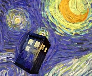 doctor who, tardis, and van gogh image