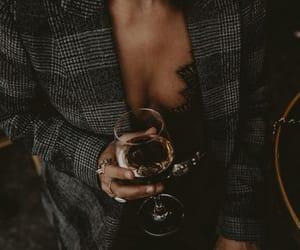 black, coat, and dress image
