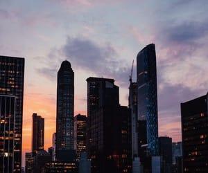 new york, sky, and city image
