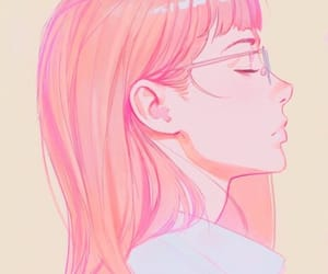 glasses and pink image