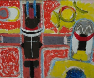 Abstract Painting, cobra group, and dutch artist image