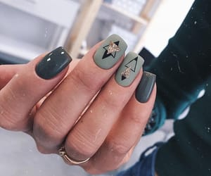 green, nails, and pretty image