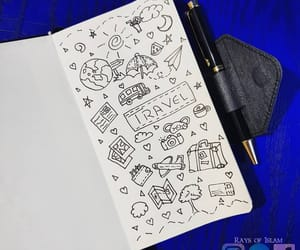 art, diary, and doodle image