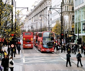 london, bus, and street image
