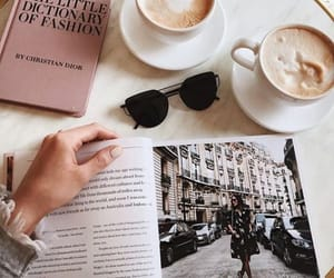coffee, book, and magazine image