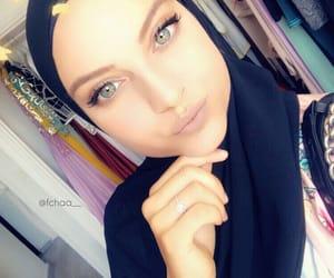 blueeyes, highlight, and hijab image