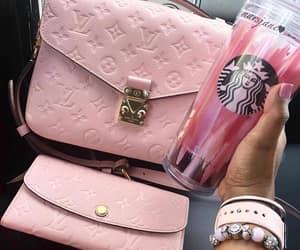 fashion, pink, and starbucks image