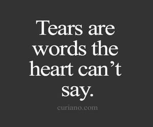 quotes, words, and tears image
