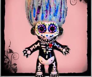 black, candy skull, and color image