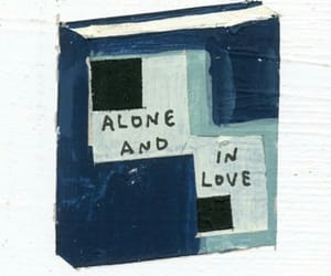 alone, art, and blue image