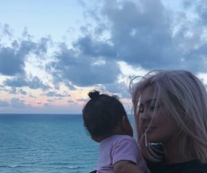 kylie jenner, stormi, and baby image