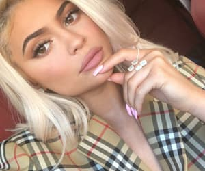 blonde hair, fashion, and kylie jenner image